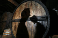 Winemaker tries to wine tasting Stock Image