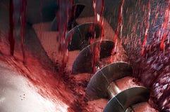 winemaking машины стоковая фотография rf