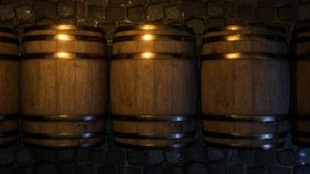 Winemaking barel 3d ilustracja ilustracji