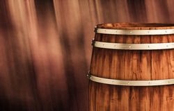 Winemaking barrel 3d illustration. Wooden winemaking barrel 3d illustration Stock Photography