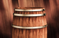 Winemaking barrel 3d illustration. Wooden winemaking barrel 3d illustration Stock Photos
