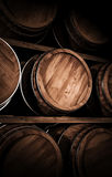 Winemaking barrel 3d illustration. Wooden winemaking barrel 3d illustration Royalty Free Stock Photography