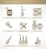 Winemaking:classic method vector illustration