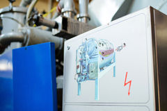 Winemaking Machine. Machine for winemaking with picture Royalty Free Stock Photo