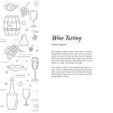 Winemaking, wine tasting graphic design concept Royalty Free Stock Photography