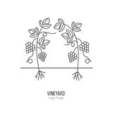 Winemaking, wine tasting logotype design concept Stock Photos
