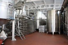 Winemaking wyposażenie, Purcari, Moldova Zdjęcia Stock