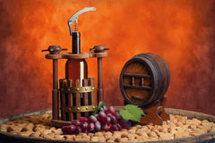 Winepress and winemake Stock Photos