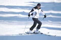 Winer woman ski Royalty Free Stock Photography