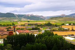 Wineries and farms around Haro. Spain Stock Images