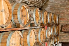 Wineries in Montepulciano Stock Photo