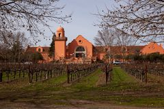 Vineyard and tasting Silverado Trail Napa Royalty Free Stock Photos