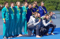 Winers of the men's quadruple sculls in Rio2016 Royalty Free Stock Image