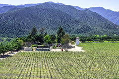 Winery along Monterey County road highway G16 Stock Image