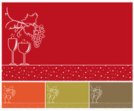 Winery backgrounds set. Royalty Free Stock Images
