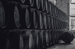 Winery in black and white Stock Photography