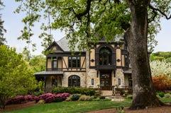 Tudor mansion winery building in Napa Valley, Cali Royalty Free Stock Photo