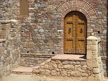 Winery Castle Doorway. Castle Doorway of a Winery in Napa Valley, California Royalty Free Stock Images
