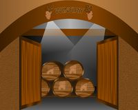 Winery, cdr vector Stock Photos
