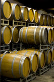 Winery Cellar Barrels Stock Photo