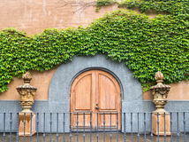 Winery entrance doors. Inviting entry to Napa Valley winery Stock Photography