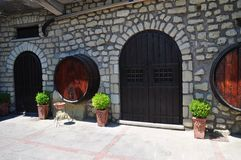 Winery entrance Italy Stock Photography
