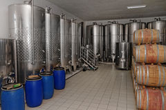 Winery in the factory Royalty Free Stock Photos