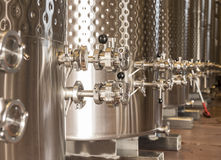 Winery Fermentation Tanks Royalty Free Stock Photo