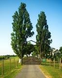 Winery house gates Stock Photography