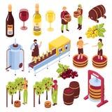Winery Isometric Set Royalty Free Stock Photo