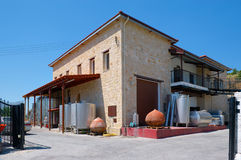Winery Ktima Gerolemo Winery & Vineyards, Omodos, Cyprus, stock images