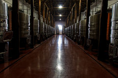 Winery Large Room Royalty Free Stock Photo
