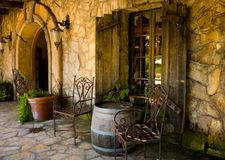 Winery Living. Front of winery estate Royalty Free Stock Images