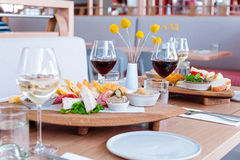 Winery Lunch Royalty Free Stock Photography