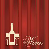 Winery Menu cover Royalty Free Stock Photos