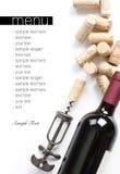 Winery menu project royalty free stock photos