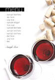 Winery menu project Royalty Free Stock Image