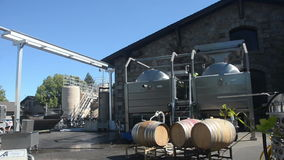 Winery operation in California stock video footage