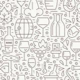 Winery Pattern Royalty Free Stock Image