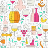 Winery Pattern Royalty Free Stock Photos