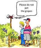Winery. Please do no pet the grapes Royalty Free Stock Images
