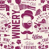 Winery seamless pattern or background. Vector illustration. vector illustration