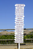 Winery Sign Royalty Free Stock Photography