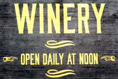 Winery Sign Stock Images