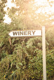 Winery sign Royalty Free Stock Photos