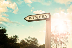 Winery sign, vintage Stock Images
