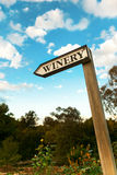 Winery sign, wooden Royalty Free Stock Images