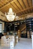 Winery in St. Emilion. Wine shop in St. Emilion, Bordeaux stock image