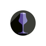 Winery theme, decorative stylish wine goblet. Wine tasting conce Stock Photos