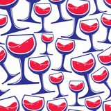 Winery theme vector seamless pattern, decorative stylish  Royalty Free Stock Photo